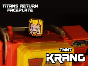 Krang Faceplate (Titan Masters) in Frosted Ultra Detail