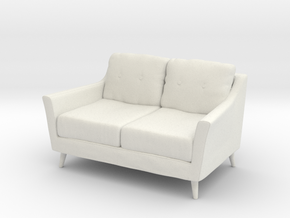 Retro Sofa in White Natural Versatile Plastic: 1:48