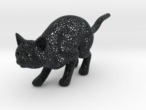 Hunting Cat in Black Hi-Def Acrylate