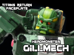 Headmonster Gillmech Face (Titans Return) in Smooth Fine Detail Plastic