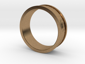 Dragon Scale Band in Natural Brass: 7.25 / 54.625