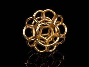 Soap Bubble Dodecahedron (S) in Polished Brass