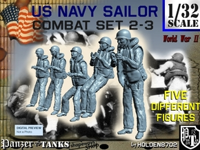 1-32 US Navy Sailors Combat SET 2-3 in Frosted Ultra Detail