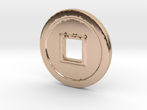 CS-N in 14k Rose Gold Plated Brass
