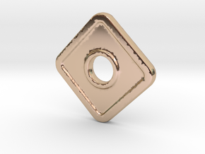 DC-N in 14k Rose Gold Plated Brass