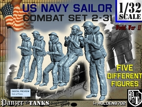 1-32 US Navy Sailors Combat SET 2-31 in Smooth Fine Detail Plastic