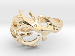 Antlers ring in 14k Gold Plated Brass