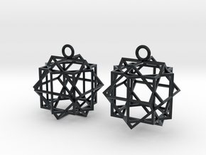 Cube square earrings in Black Hi-Def Acrylate