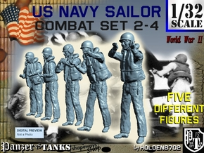 1-32 US Navy Sailors Combat SET 2-4 in Frosted Ultra Detail
