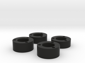 RC4WD Bully II Hub spacers (beta version) in Black Strong & Flexible
