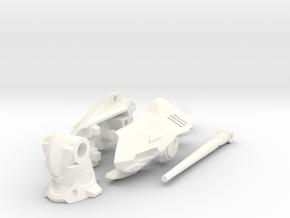 VF-0C/D Custom Head Unit in White Processed Versatile Plastic