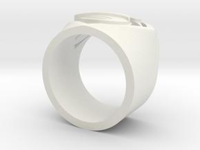 SuperManRIng - Man Of Steel Size US9 in White Natural Versatile Plastic