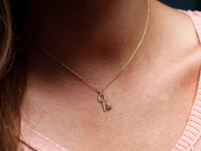 Key To My Heart Pendant in 18K Gold Plated