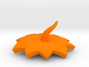 halloween pumpkin top part in Orange Strong & Flexible Polished