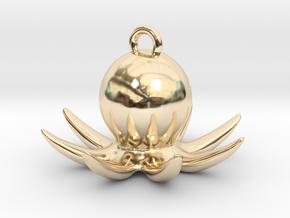 Octopus Earring in 14K Yellow Gold