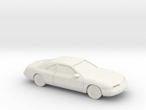 1/87 1993-96 Lincoln Mark VIII in White Natural Versatile Plastic