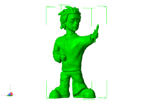 3d artist figurine in White Natural Versatile Plastic
