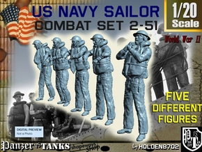 1-20 US Navy Sailors Combat SET 2-51 in White Natural Versatile Plastic