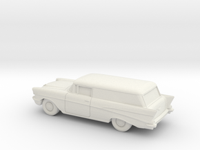1/87 1957 Chevrolet 2 Door Delivery in White Strong & Flexible