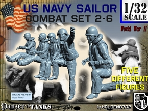 1-32 US Navy Sailors Combat SET 2-6 in Frosted Ultra Detail