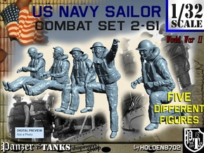 1-32 US Navy Sailors Combat SET 2-61 in Frosted Ultra Detail