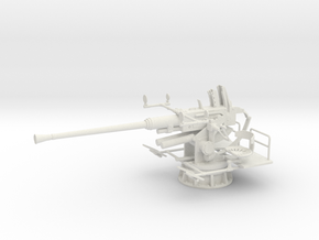1/20 USN Single 40mm Bofors [UnElevated] in White Strong & Flexible: 1:20