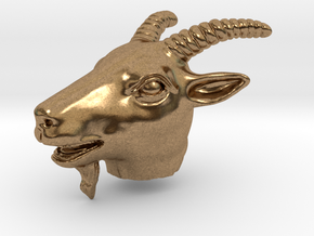 Sheep head Pendant in Natural Brass