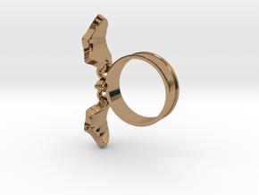 Flying Bat Charm Ring in Polished Brass (Interlocking Parts): 5 / 49