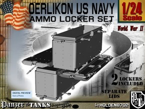 1/24 Oerlikon US Navy Ammo Locker Set in White Strong & Flexible