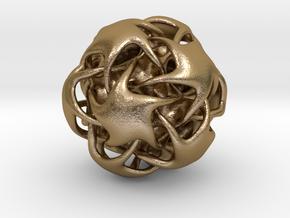 3D Seastar Pendant in Polished Gold Steel