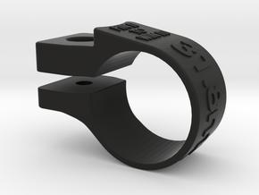 Lezyne 31.6 Light Mount in Black Natural Versatile Plastic
