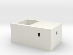 Tomlinscote Woods Type 23 Bunker in White Natural Versatile Plastic: 1:152