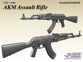 1/12 AKM Assault Rifle in Frosted Extreme Detail