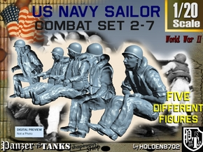 1-20 US Navy Sailors Combat SET 2-7 in White Natural Versatile Plastic