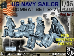 1-35 US Navy Sailors Combat SET 2-71 in Frosted Ultra Detail