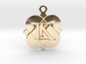Custom Logo Charm in 14k Gold Plated Brass