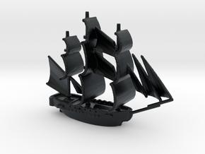 HMS Surprise ~1/1000 scale in Black Hi-Def Acrylate