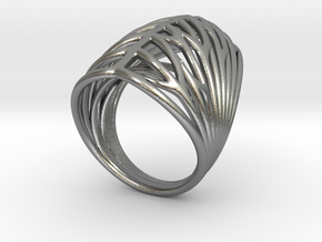 Echo.E ring in Natural Silver
