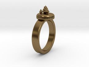 ChristmasTrees Ring Ø0.677 inch/Ø17.20 Mm in Natural Bronze: 1.5 / 40.5