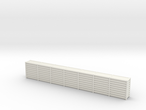 1/144 Scale Revetment Wall  in White Natural Versatile Plastic: 1:144