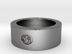 Hitchhikers Guide to the Galaxy  Homing Thumb Ring in Polished Silver: 11 / 64