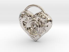 love speaker in Rhodium Plated Brass