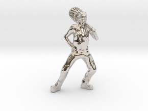 The Mask custom Heroclix in Rhodium Plated Brass