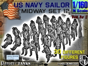 1-160 US Navy MIDWAY Set 12 in Smooth Fine Detail Plastic