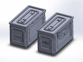 1/48 .50 cal Ammo Cans (12) in Frosted Ultra Detail