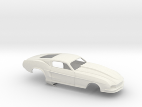 1/8 67 Pro Mod Mustang GT in White Natural Versatile Plastic