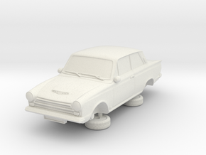 1-76 Ford Cortina Mk1 2 Door in White Natural Versatile Plastic