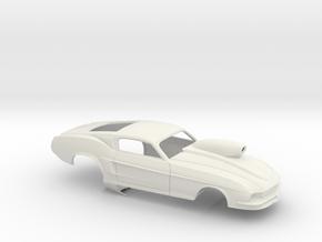 1/18 67 Pro Mod Mustang GT W Snorkel Scoop in White Strong & Flexible