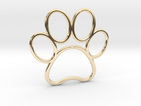 Paw Print Pendant - Large in 14K Yellow Gold