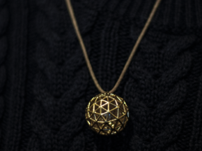 Platonic Pendant #1 in Polished Gold Steel